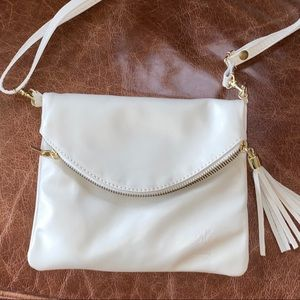 Genuine Leather Made in Italy Zip Up Purse Bag